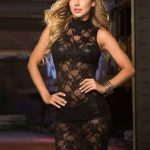 High Neck Black Lace Sleeveless Lingerie Set