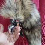 Stainless Steel Anal Plug with Wild Fox Tail