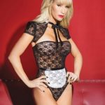 Maid Strapless Lace Sleeve Teddy