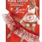 Sexy Nurse Garter with Realistic-looking Hypodermic